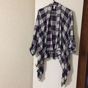 Sleeved est 1946 plaid top